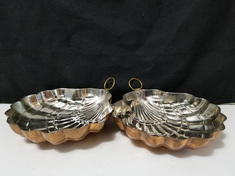 Two Copper Scallop Shell Molds