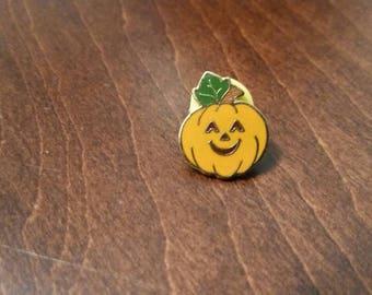 Hallmark Enamel Cloisonne Pumpkin Lapel Pin