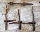Shutter Dogs Antique Hinges Hardware Forged Colonial Architectural Salvage