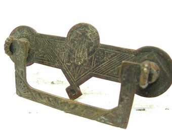 Antique Brass Aesthetic Victorian Style Drawer Or Cabinet Pull   Antique  Brass Hardware   Eastlake Hardware   Aesthetic Hardware