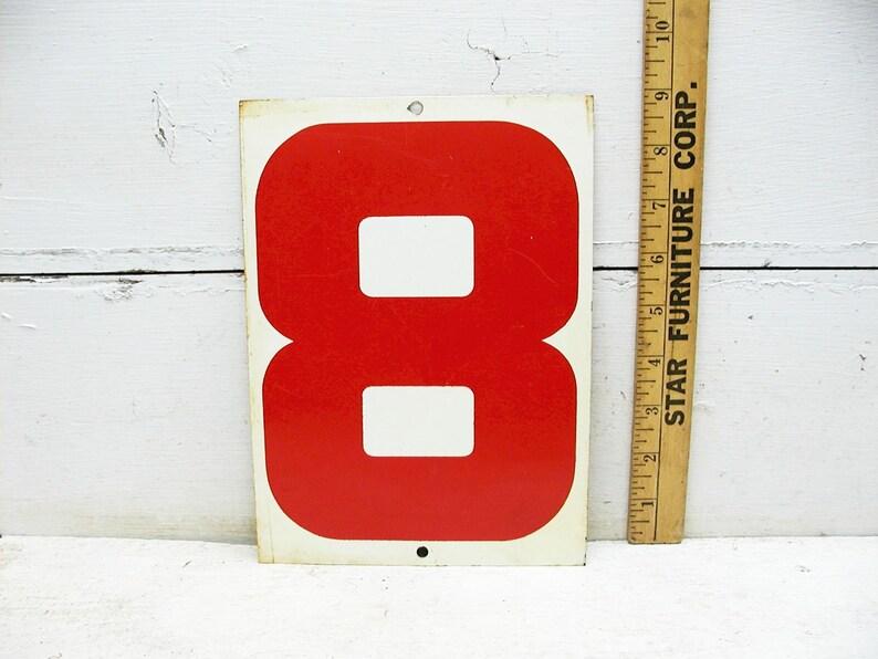 Vintage Gas Station Price Sign Number Metal Steel Sign Eight - 2 Sided  Number 6 Sign Number 8 Sign Six or Number 9 Nine Sign Metal Sign