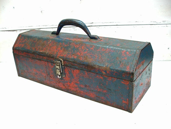 Vintage ToolBox - Old Tool Box For Display - Organize Crafts - Tool Toolbox  Storage - Succulent Planter - Unique Planter - Industrial