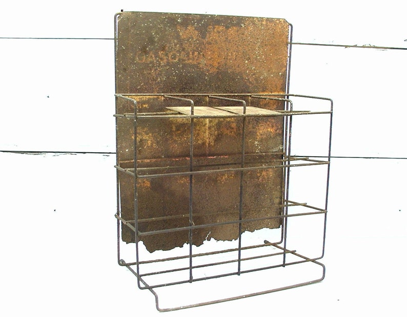 Vintage Automotive Counter Top Rack - Gasoline - Wix - Advertising Rack  Sign - Rusty Salvage - Organize - Gas and Oil - Service Station