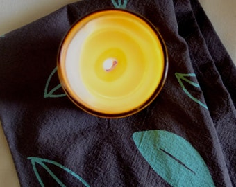 CLEARANCE SALE Grab Bag! 2 Seconds Candles + 2 Discontinued Tea Towels, Final Sale, Black Friday, Vegan Soy Candle, Scented Candle, Gift Bag