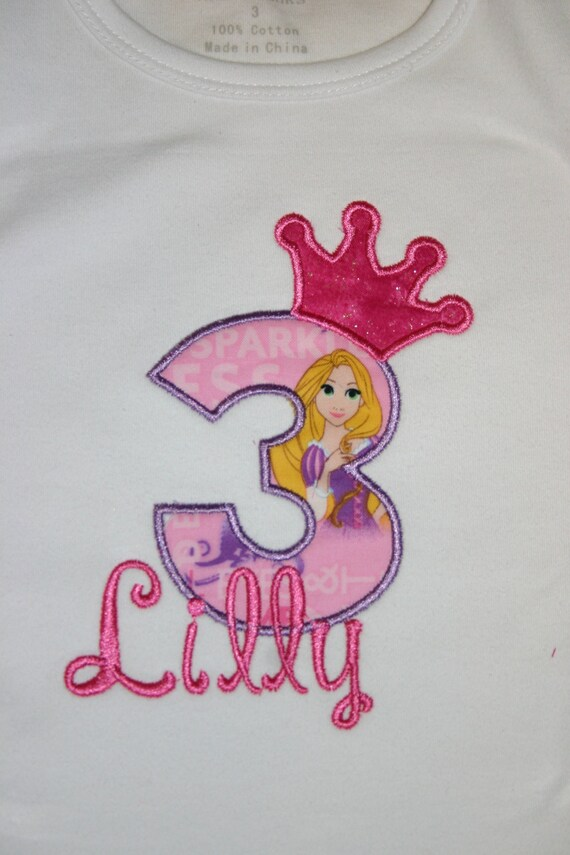Aris Angels Girls Birthday Tangled Rapunzel