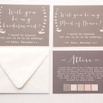 Will you be my Bridesmaid Invitation Attire Card
