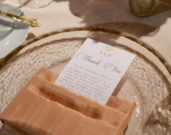 Wedding Reception Thank You Cards for Place Setting
