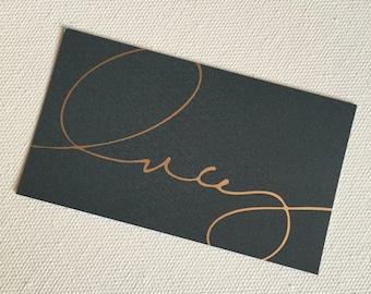 Foil Business Cards Custom Design