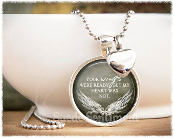 Cremation jewelry etsy urn necklace your wings were ready cremation jewelry ashes necklace loss of loved one memorial urn aloadofball Images