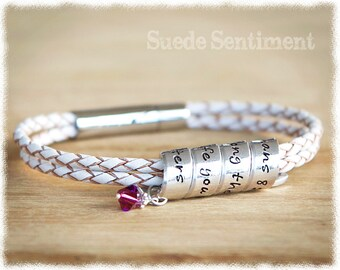 Womens Personalized Bracelet O 21st Birthday Gift For Her Long Distance Friendship Personalised