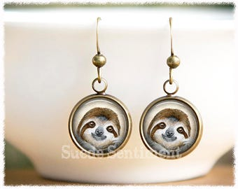 75d6fd81f Sloth Earrings • Sloth Gift • Animal Lover Gift • Sloth Jewelry • Animal  Earrings • Gift For Daughter • Animal Rescue