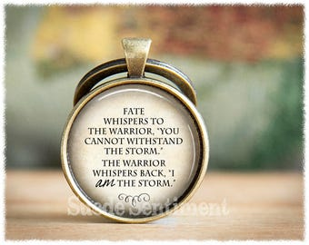 Storm Quote Keychain • I Am The Storm • Inspirational Keyring • Warrior Keychain • Strength • Encouragement • Mental Health