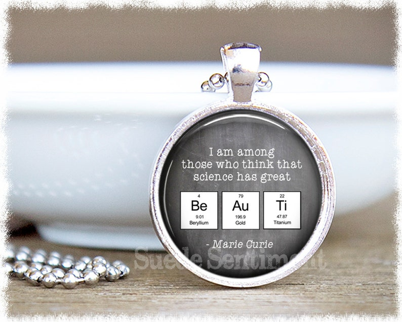 Science Teacher Gift Science Jewelry Periodic Table image 0