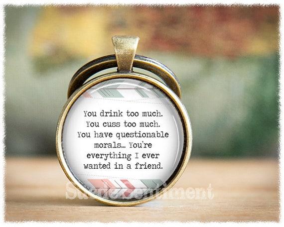 Funny Best Friend Gift Friendship Keychain Humorous Gifts Funny Gifts Friends Friend Keychain