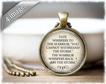 I Am The Storm • Warrior Quote • Storm Quote Necklace • Inspirational Jewelry • Faith Necklace • Recovery • Mental Health