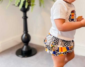 Baby Diaper Cover - Diaper Cover - Bloomers - African Print Diaper Cover - Baby Pants -  Baby Clothes - AfroBaby Clothes - Afrocentric805