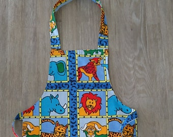 Kids Apron - African Print Apron - Children's Apron - Fun Apron - Birthday Gift - Various Prints -African Inspired Kitchen by Afrocentric805