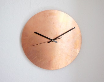 Copper Raw Wall Clock