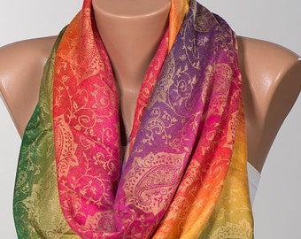 RAINBOW oversize Pashmina Scarf or Shawl. Ombre Christmas Gift Scarf for women. Fashion accessories. Gift for her. Valentines day.
