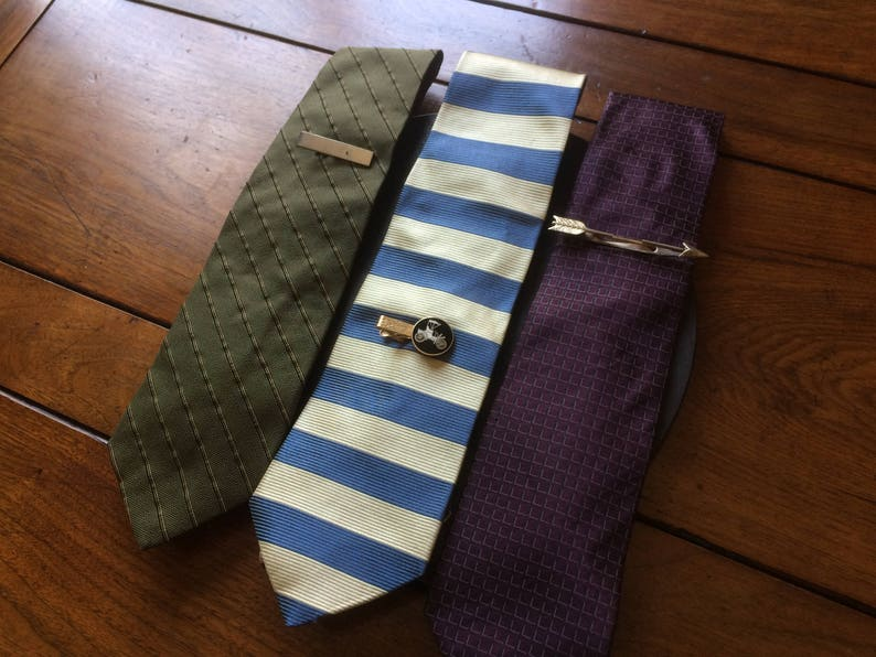 CHOOSE 1 or BOTH vintage all pure silk Kenneth Cole army green or purple suit neck tie suit costume accessory designer necktie gift for him