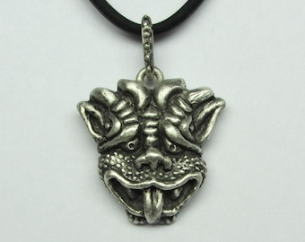 """Mystical And Whimsical Hand-Carved Sterling Silver Necklaces, """"The Gargoyle VI"""""""