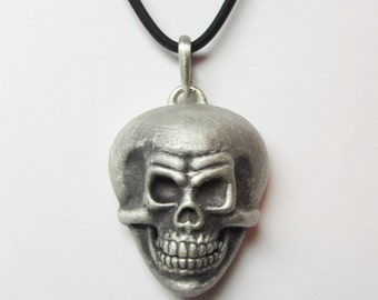 """Sterling Silver Skull Guitar Pick Holder """"PickHead"""" From The Pick Locket Collection By Link Wachler"""