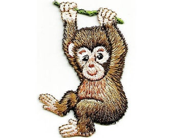 Monkey Wild Animals Zoo Jungle Embroidered Iron On Patch
