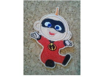 "2.5/"" Disney incredibles dash fabric applique iron on character"