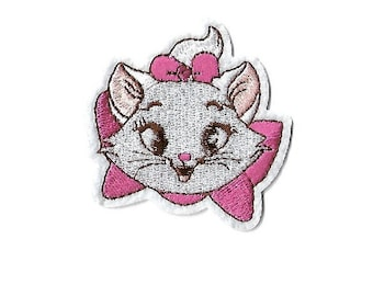 5b39ee52 Cat - Marie - The Aristocats - Embroidered Iron On Patch