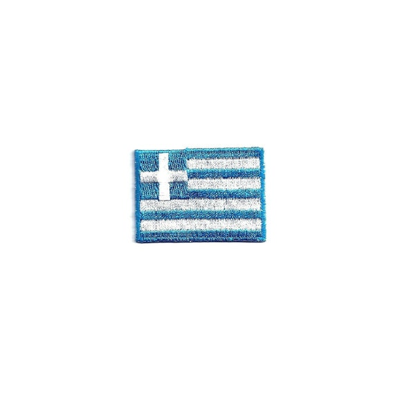 Greece Flag Patch Embroidered Iron On Applique