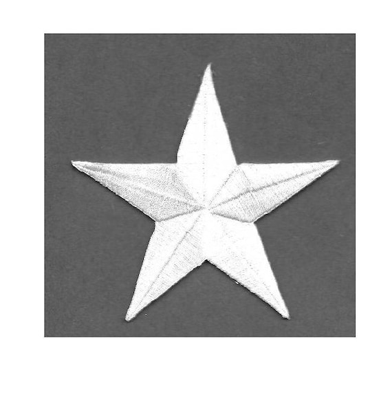 Embroidered Stars Iron On Patch 1 Black Awards One School Crafts Generous 3 Size Hats Costumes Star