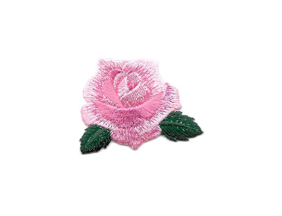Rose Flower Majestic Purple Shimmering Embroidered Iron On Applique Patch