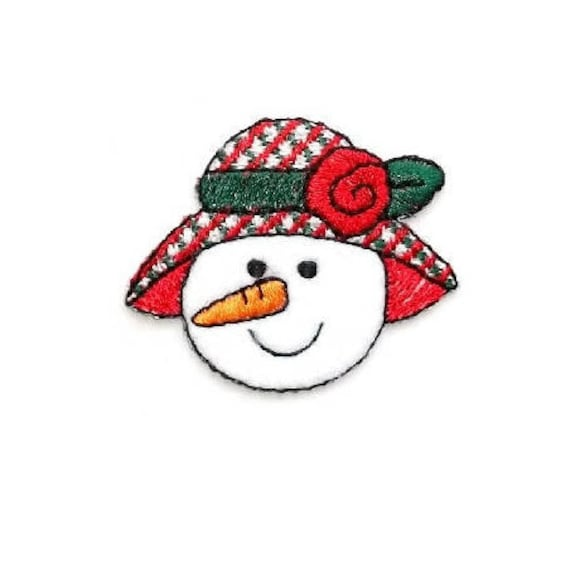 Snowman with Peace Sign Applique Patch Iron on
