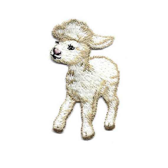 Flock Farm Sheep R Baby Lamb Embroidered Iron On Applique Patch