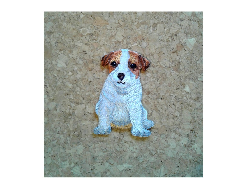 Crafts Jack Russell Terrier Dog Puppy Pet Embroidered Iron On Patch