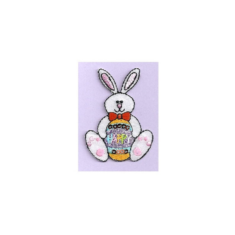 Easter Bunny Iron On Applique Patch Easter Egg Happy Easter Crafts