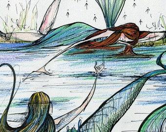 Water Nymph 8x10 Print