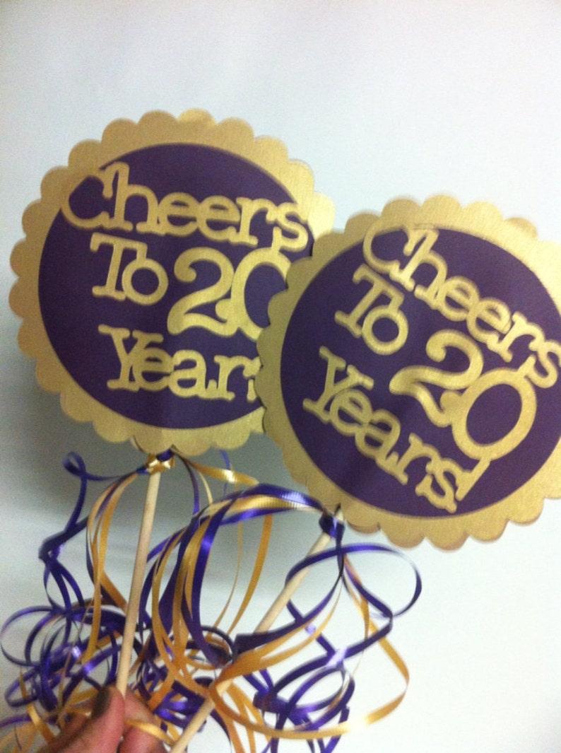 20th Birthday Decorations Centerpiece Signs