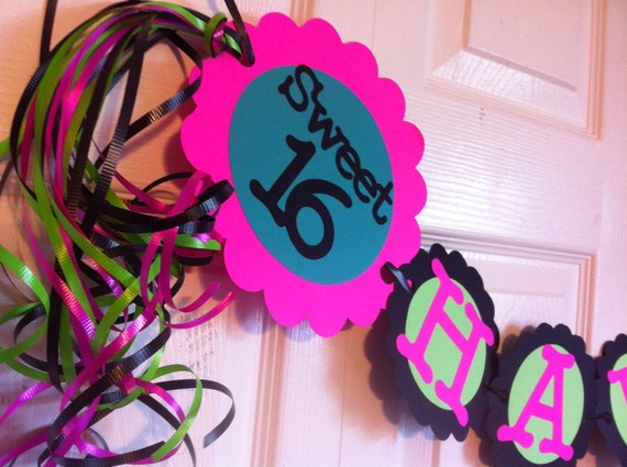 16th Birthday Party Decorations Sweet Sixteen Personalization