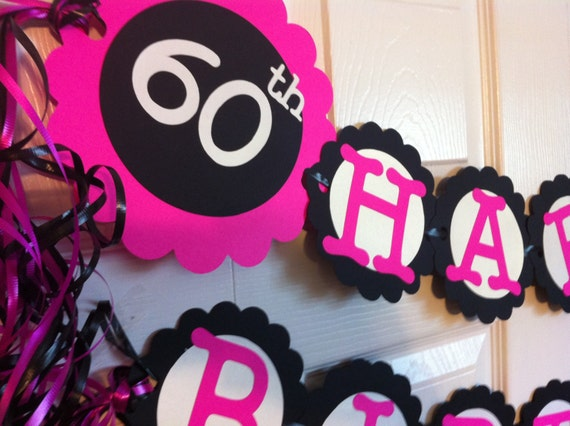 60th Birthday Decorations Personalization Available