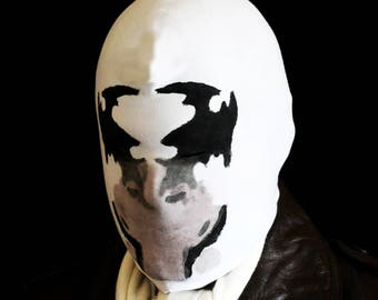 Rorschach mask with REAL moving inkblots