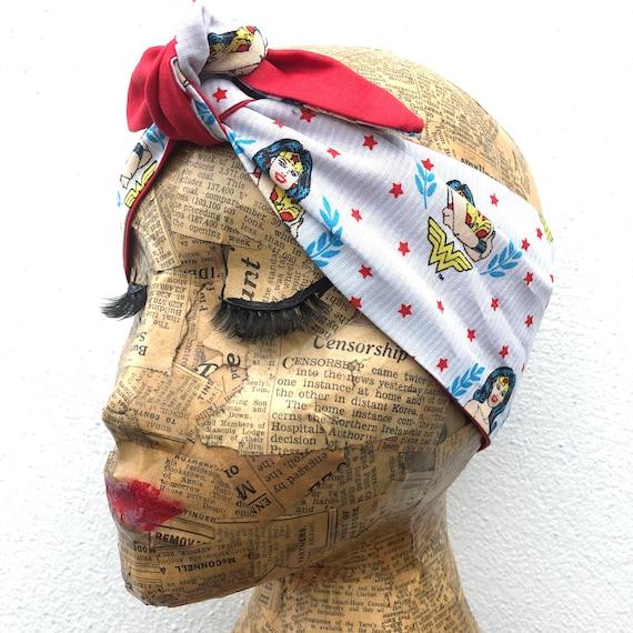 Wonder Woman  Headscarf Rockabilly Pinup inspired