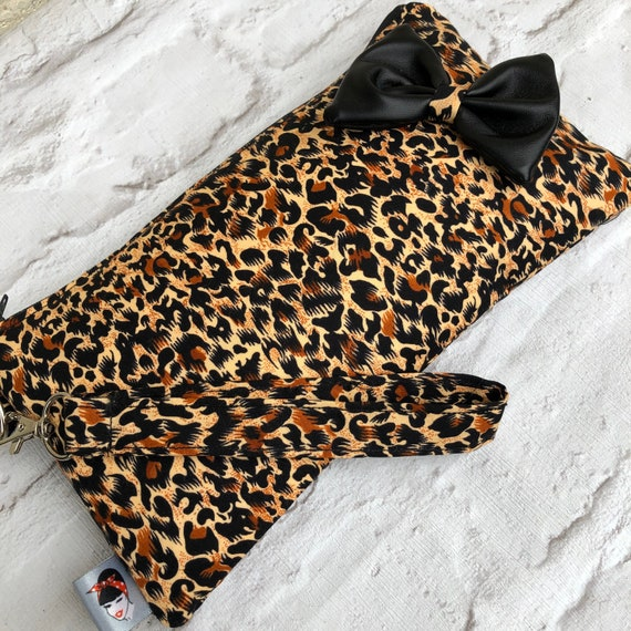 Leopard Print Clutch Bag Rockabilly Pinup 1950's Inspired