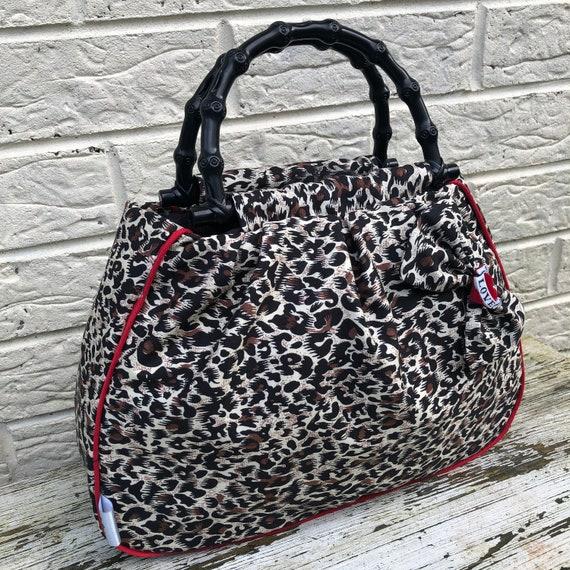 Leopard Print Handbag Rockabilly Pinup 1950's Inspired
