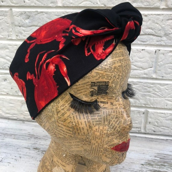 Crab Headscarf Rockabilly Pinup 50's inspired