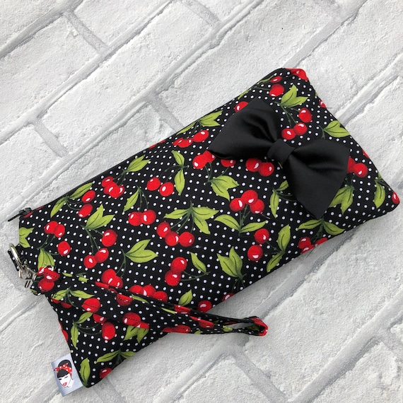 Cherry Clutch Bag Rockabilly Pinup 1950's Inspired