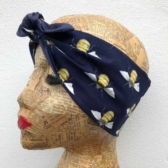 Bumble Bee Dita Headscarf Rockabilly Pinup 1950's Inspired