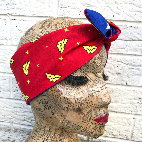 Wonder Woman Inspired Headscarf DC Heroes Rockabilly pinup