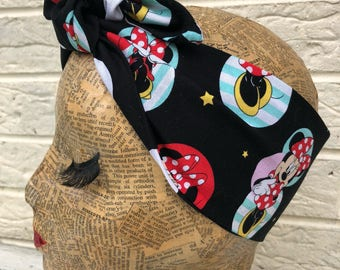 Minnie Mouse Headscarf Rockabilly Pinup 1950's Inspired