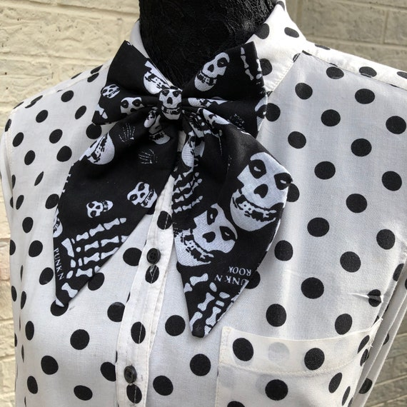 Misfits Inspired Betty Bow Tie Pin Rockabilly Pinup 1950's Inspired